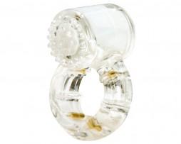 anillo vibrador transparente Quartz.